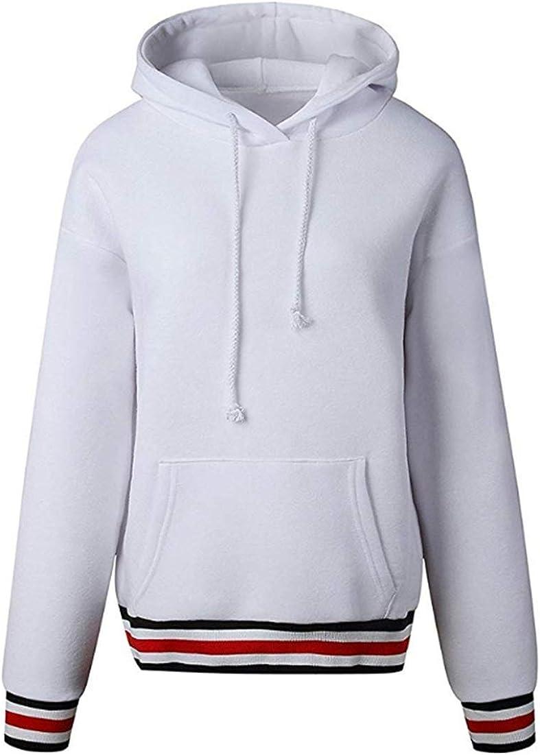NR Felpa con Cappuccio Donna Autunno Invernali Manica Lunga Cappotto Giacca Sweatshirt Hoodies
