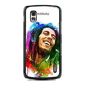 The Singer-Songwriter Of Bob Marley Cover Case, Colourful Background Cover And Hard Plastic Case For Google Nexus 4