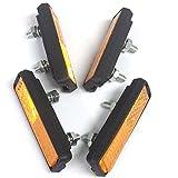 Contrast Lightweight Bike Pedal Reflectors - (2 PAIRS)