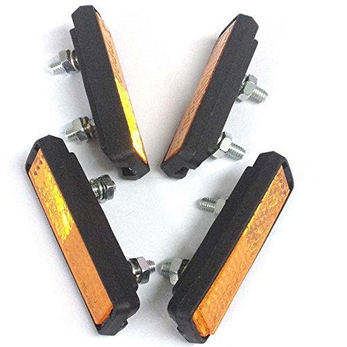 Pedal Reflector - Contrast Lightweight Bike Pedal Reflectors - (2 PAIRS)