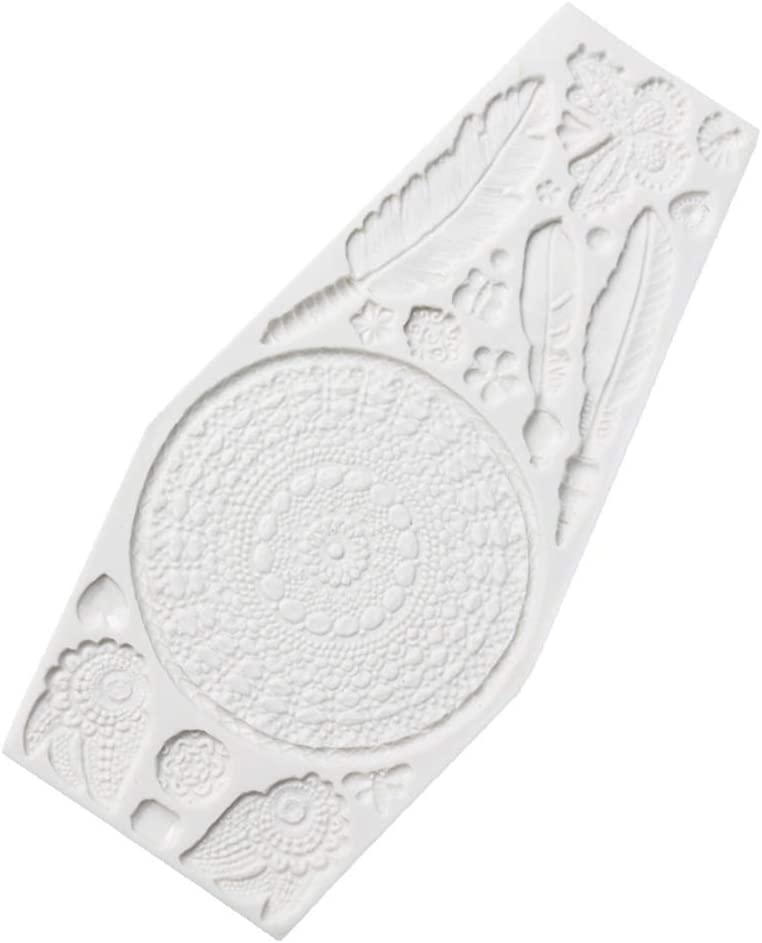 Lot de 2 moules /à g/âteaux en silicone motif attrape-r/êves
