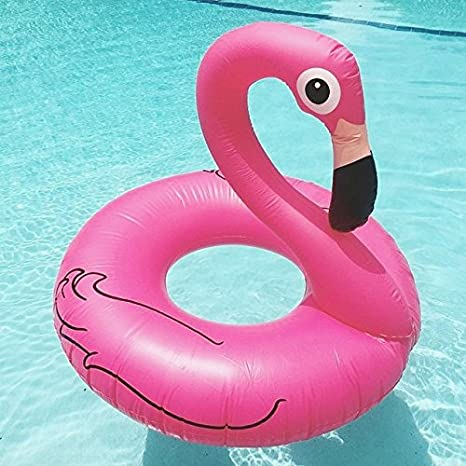 Beach Toy ® - Flotador para piscina en forma de FLAMENCO ROSA ...
