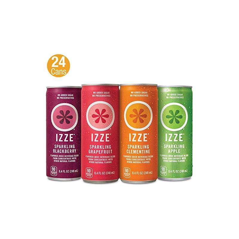 IZZE Sparkling Juice, 4 Flavor Variety P