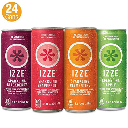 IZZE Sparkling Juice, 4 Flavor Variety Pack, Pack of 24, 8.4 oz Cans (Best Way To Pomegranate)