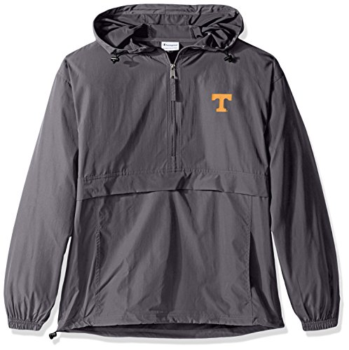(Champion NCAA Men's Half Zip Front Pocket Packable Jacket Tennessee Volunteers Medium)