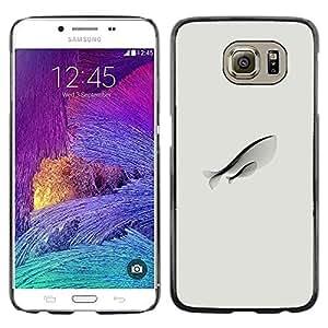 Be Good Phone Accessory // Dura Cáscara cubierta Protectora Caso Carcasa Funda de Protección para Samsung Galaxy S6 SM-G920 // Fish Mother Love Art Modern Simplistic Drawing