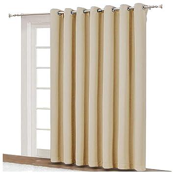 Amazoncom Nicetown Extra Wide Patio Door Curtain Energy Smart