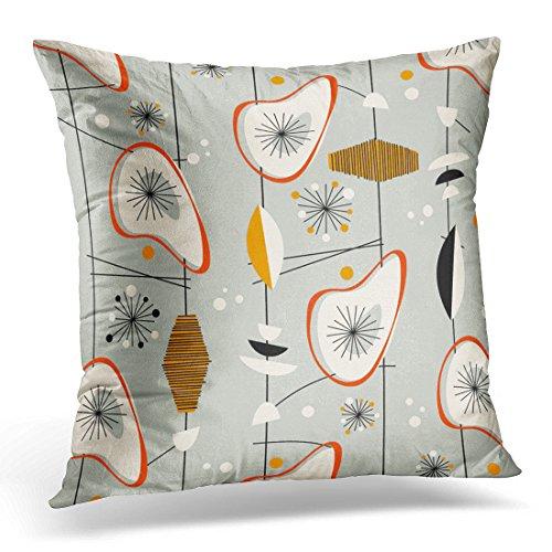 VANMI Throw Pillow Cover Beatnik Vintage 1950S Atomic Mid Century Modern Tiki Decorative Pillow Case Home Decor Square Pillowcase 51j89wnVGhL