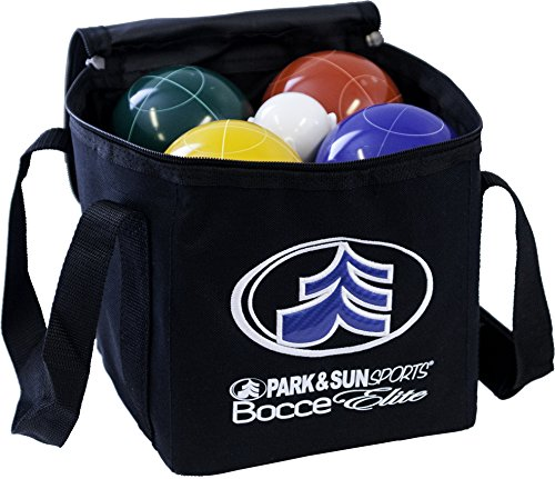 Park & Sun Sports Bocce Ball Set with Deluxe Carrying Bag: Tournament Elite, 100 mm Poly-Resin Balls by Park & Sun Sports (Image #2)