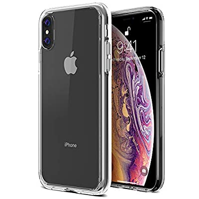 "Trianium Clarium Case Designed for Apple iPhone Xs MAX Case (2018 6.5"" Display ONLY) Reinforced Corner TPU Cushion and Hybrid Rigid Clear Back Plate Protection Covers [Enhanced Hand Grip]"