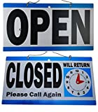 1 Set Good Popular Open Closed Hanging Sign Double Sided Time Flip Business Hours Size 6