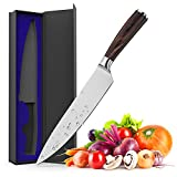 Kitchen Knife, Maodeen 8 inch German Stainless Steel with High Carbon Professional Chef's Knife for Home and Restaurant