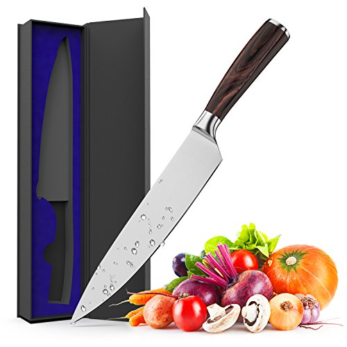 Kitchen Knife, Maodeen 8 inch German Stainless Steel with High Carbon Professional Chefs Knife for Home and Restaurant