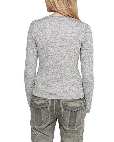 Comma 80.899.31.1721 - Camiseta Mujer Grau (grey/black 9108)
