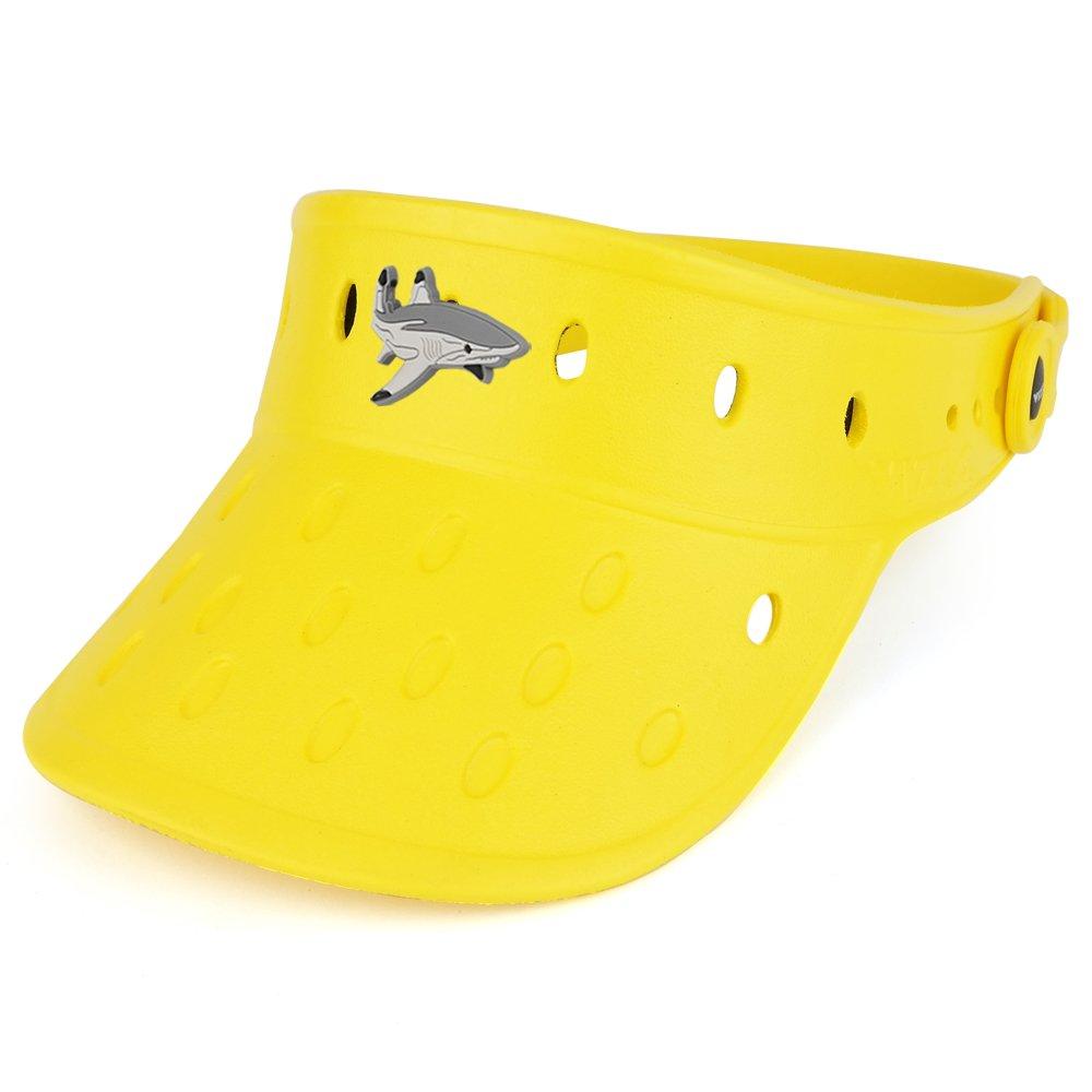 Trendy Apparel Shop Durable Adjustable Floatable Foam Visor Hat With Shark Snap Charm