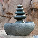 Quintuple Rock Cairn Tabletop Water Fountain, Five Rock Fountain Perfect for Indoor Decoration