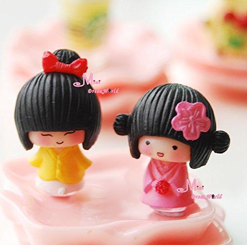 2 PCS Baby Japanese Lovely Girls TOY 1/12 Dollhouse Miniatur