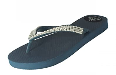 Designer Luxus Flip Flops-Chanclas Exclusivas Simone Herrera-Diamond Line-Aida-Riemchen Sandale Zehentrenner (39/40) t6YmUw