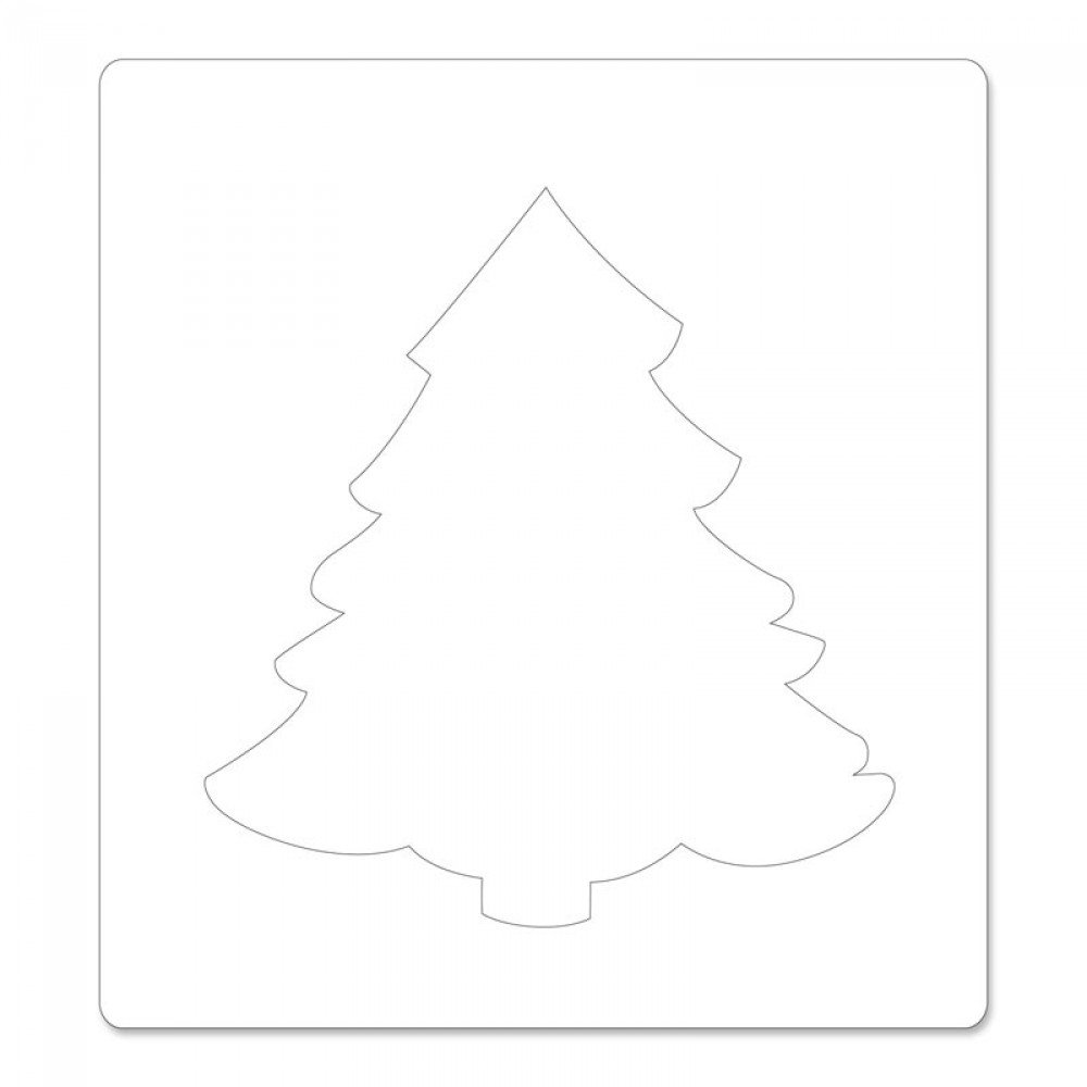 Sizzix 657370 Bigz Die with Bonus Textured Impressions, Christmas Tree #2 by Beth Reames, Multicolor by Sizzix