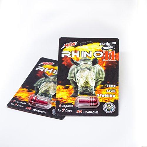 Rhino 11 30000 Platinum Male Enhancement Pills (6 Packs) (Sexual Enhancement Pill)