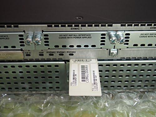 1 x SFP Card Mini-GBIC 3 x 10//100//1000Base-T WAN 2 x Services Module 2 x CompactFlash Cisco 2921 Integrated Services Router 3 x PVDM CISCO2921-SEC//K9 CF 4 x HWIC