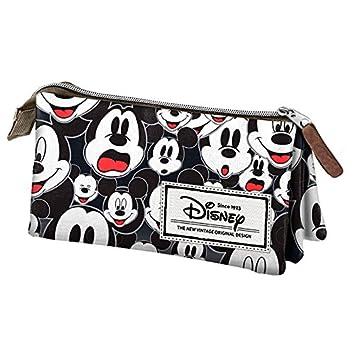 Mickey y sus amigos - Estuche escolar Triple Vintage Black ...
