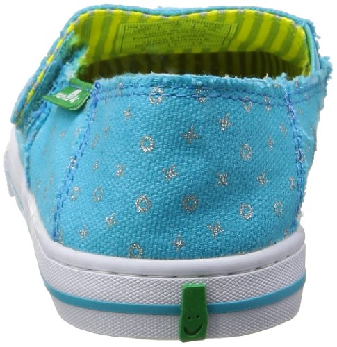 Sanuk Kids Cabrio Sparkle Sidewalk Surfer (Toddler/Little Kid/Big Kid),Ocean,6 M US Big Kid by Sanuk (Image #2)