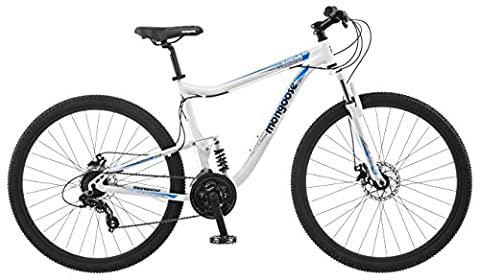 Mongoose Status 2.6 Men's 18 Mountain Bike, 18-Inch/Medium, White - Mongoose Comfort Bike