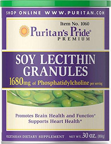Lecithin 95 Granules - Puritan's Pride Soy Lecithin Granules 1680 mg-30 oz Granules