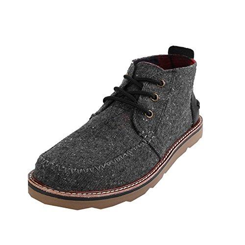 Toms Men's Mateo Chukka Boot Charcoal Fleck 9.5