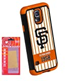 [Galaxy S5] Forever Collectibles MLB - San Francisco Giants - Dual Hybrid TPU Galaxy S5 Rugged Case with Kaede [Screen Guard] Protector [Galaxy S5]