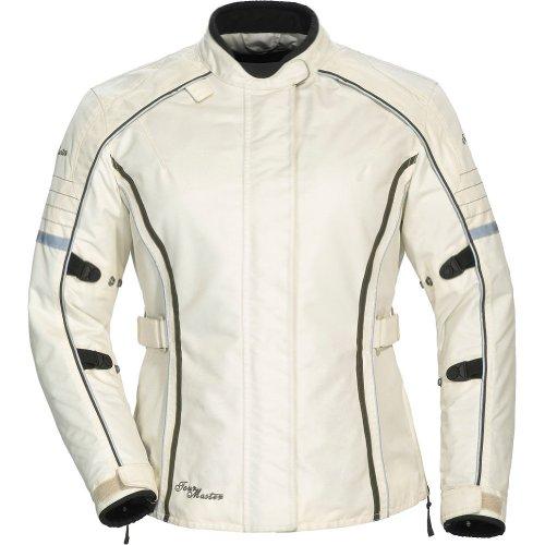 Jacket Textile Series (Tour Master Trinity Series 3 Women's Textile Sports Bike Racing Motorcycle Jacket - Cream / Plus Small)