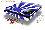 Rising Sun Japanese Flag Blue - Decal Style Skin fits Sony PlayStation 4 Slim Gaming Console