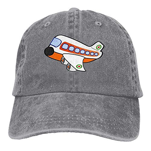 JHDHVRFRr Hat Aircraft Cartoon Denim Skull Cap Cowboy Cowgirl Sport Hats for Men Women