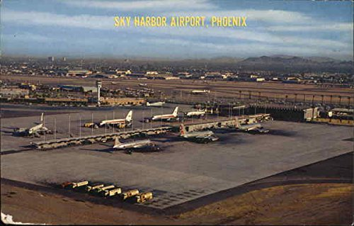 Sky Harbor Airport Phoenix, Arizona Original Vintage Postcard (Phoenix Arizona Airport)
