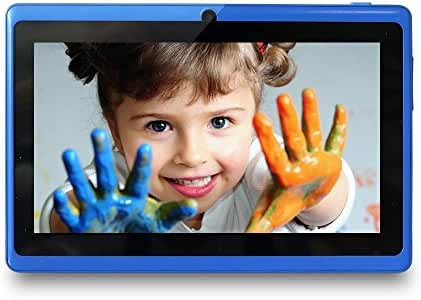 Yuntab 8GB Y88 7 inch Tablet Google Android 4.4 Quad-core Tablet PC HD 1024x600 Resolution Bluetooth with Dual Camera Google Play Pre-loaded External 3G Netflix, Skype, 3D Game Supported (Blue)