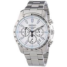 Seiko Men's SSB025 Chronograph White Dial Watch