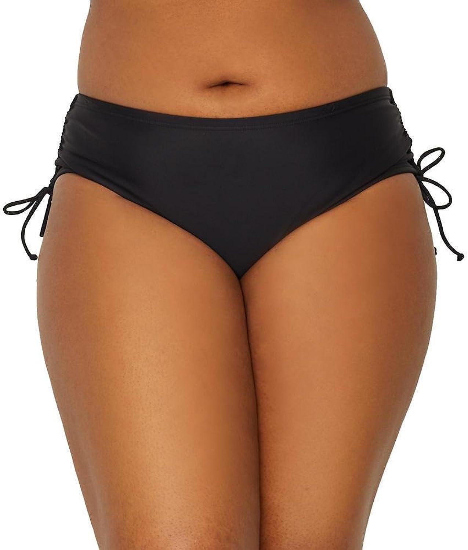 45b3329ccd7 24th   Ocean Women s Plus Size High Waist Side Tie Bikini Swimsuit Bottom