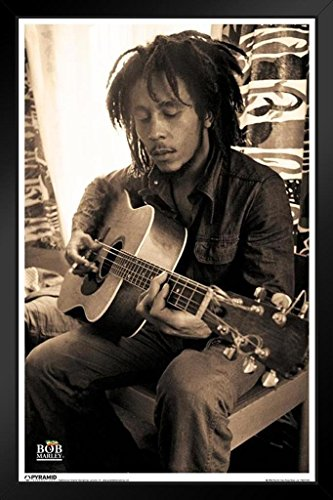 (Pyramid America Bob Marley Sepia Framed Poster 14x20 inch)