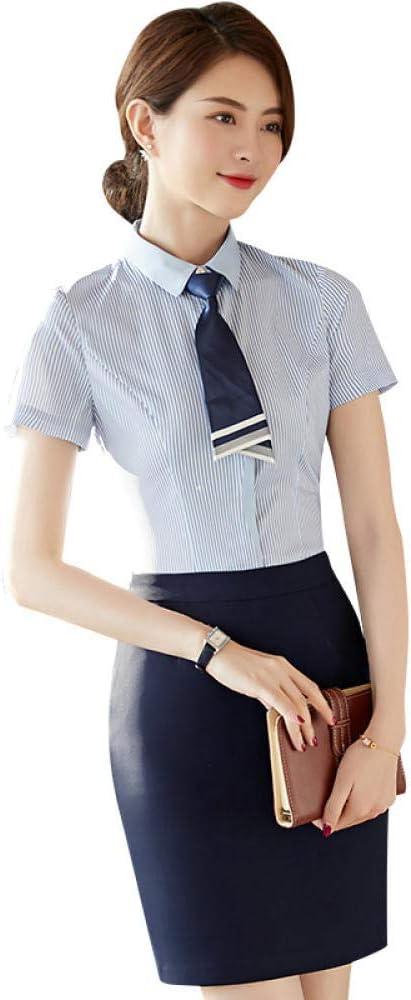 Blusas Y Camisas para Mujer Camisa De Manga Corta Overol De Auxiliar De Vuelo Camisa Profesional Suma: Amazon.es: Ropa y accesorios