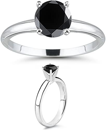 Lovely Round Shape 925 Sterling Silver 3.00Ct Solitaire Women/'s Engagement Ring