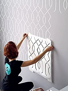 Moorish Trellis Wall Stencil For Painting   Expedited 3 Days Delivery   Wall  Accent   Reusable