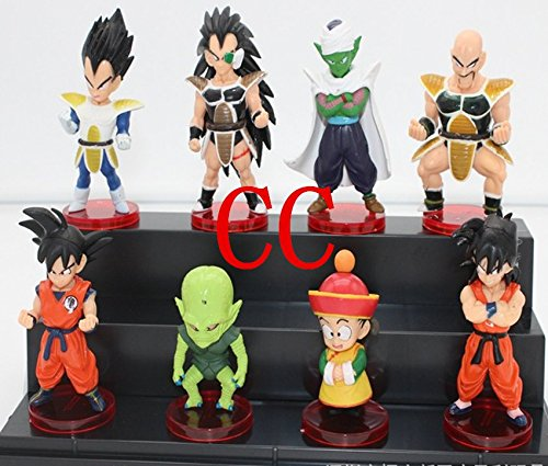 TONGROU 8pcs set mini PVC Z Figures toy doll gift Master Roshi Chichi Goku - Original Boba Fett Costume
