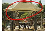 The Outdoor Patio Store High-Grade 300D Replacement Canopy for Garden Oasis Dawson Hexagonal Gazebos For Sale