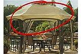 High-Grade 300D Replacement Canopy for Garden Oasis Dawson Hexagonal Gazebos