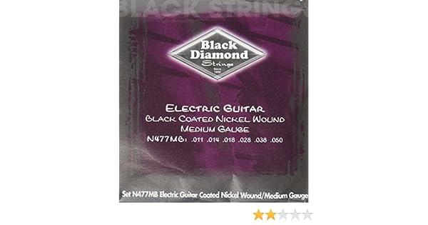Amazon.com: Black Diamond N477MB Black Coated Nickel Wound Electric Guitar Strings, Medium: Musical Instruments