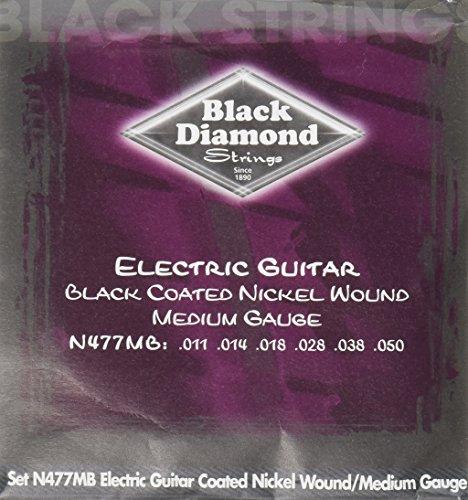 Black Diamond N477MB Black Coated Nickel Wound Electric Guitar Strings, Medium