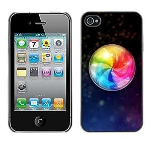Paccase / SLIM PC / Aliminium Casa Carcasa Funda Case Cover - Design Color Ball - Apple Iphone 4 / 4S