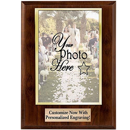 - Crown Awards Personalized Photo Plaques - 8x10 Vertical Slide-in Photo Frame Plaque Gift with 3 Lines of Custom Engraving Included Prime