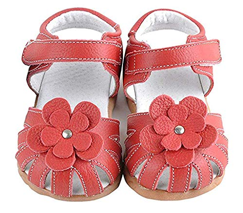 TOOPOOT Sandals for Baby Children's Leather Summer Comfortable Breathable Sandals Shoes for 1-8Years Red